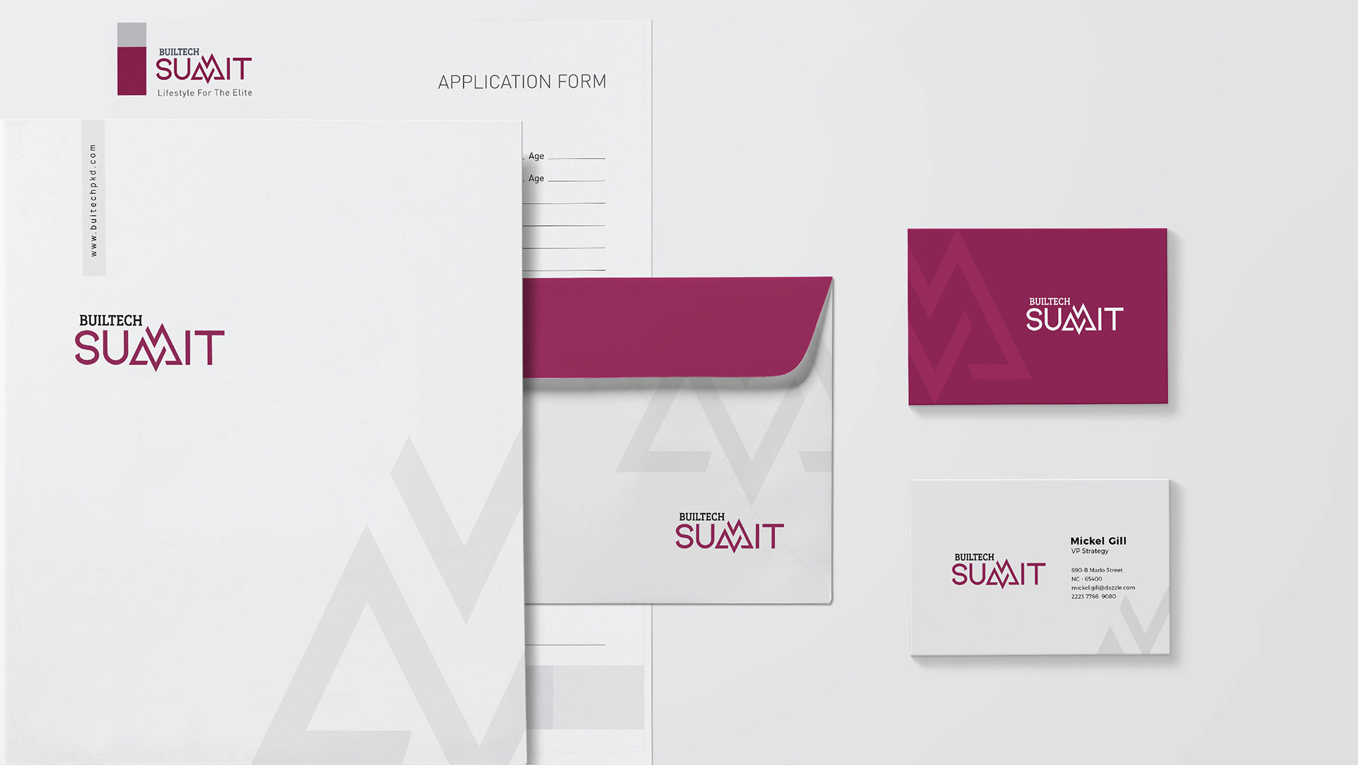 Builtech Palakkad - Summit Appartments Stationaries branding and design