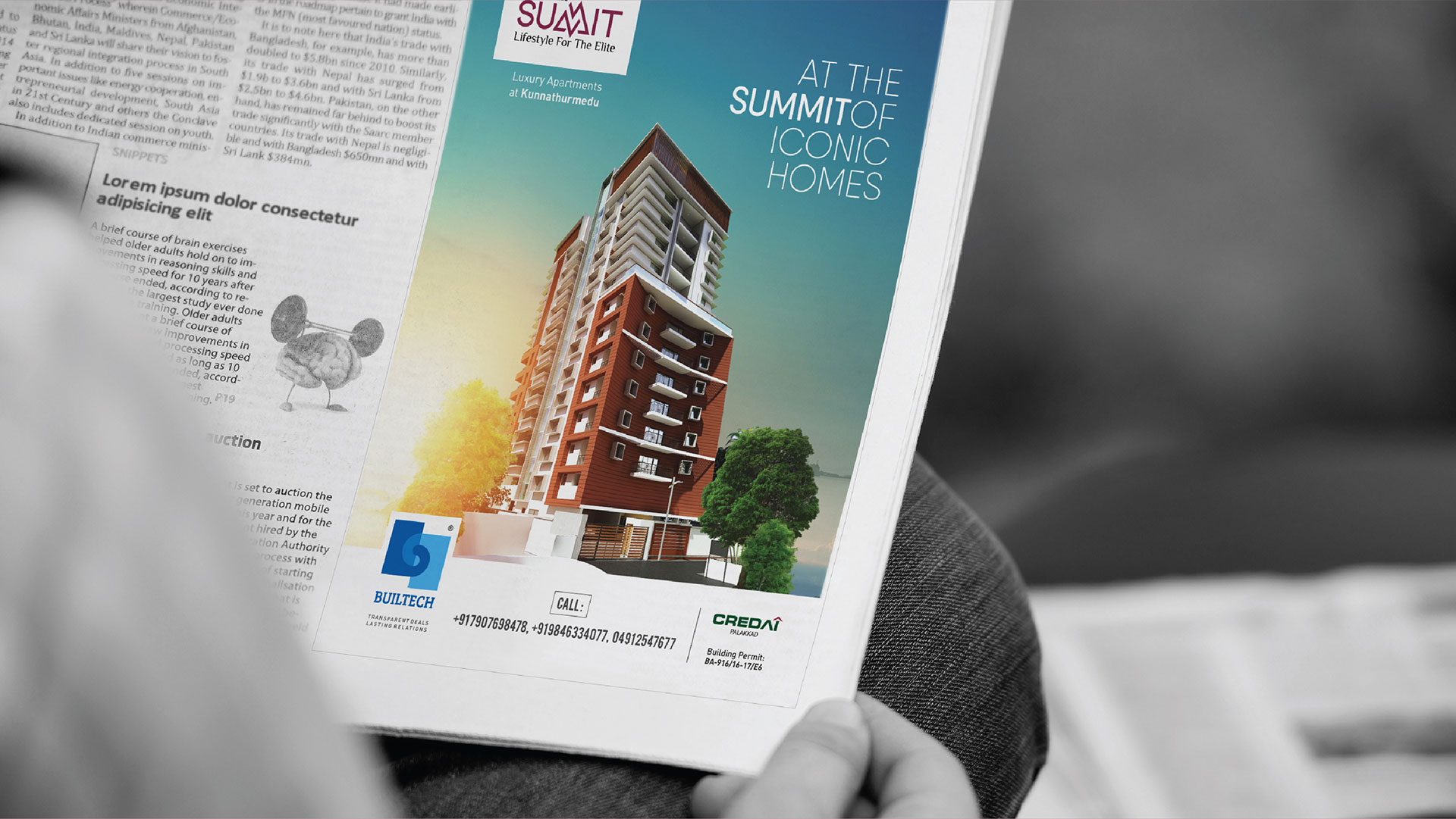 Builtech Palakkad - Summit Appartments Newspaper Print Ad Design