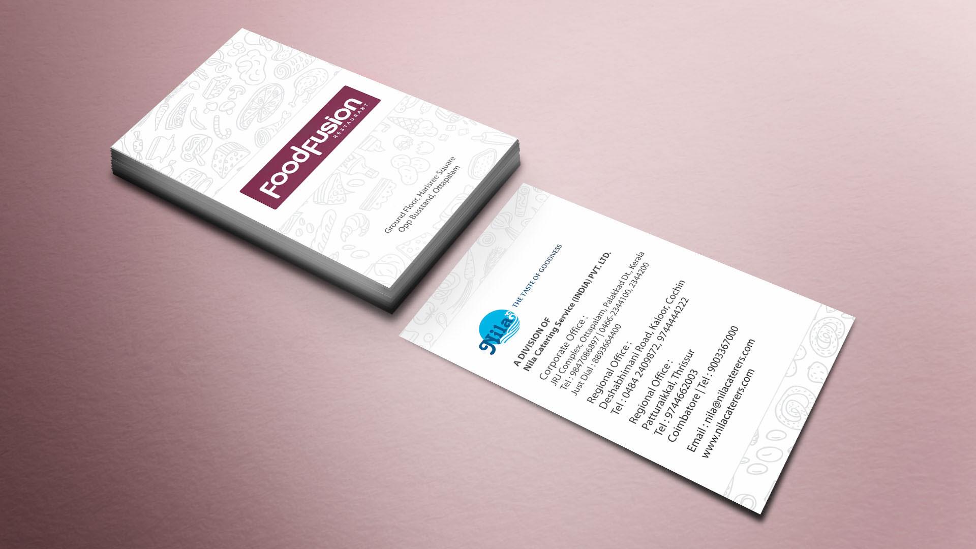 Nila FoodFusion Business Card design