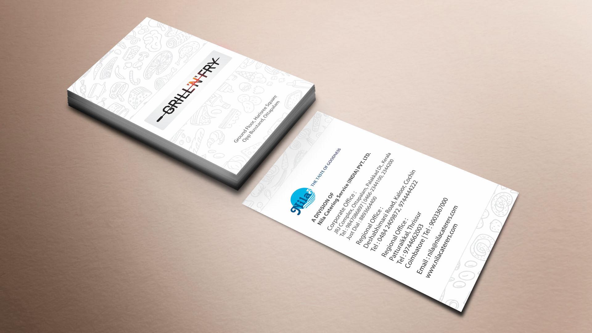Nila Grill 'N' Fry Business Card design