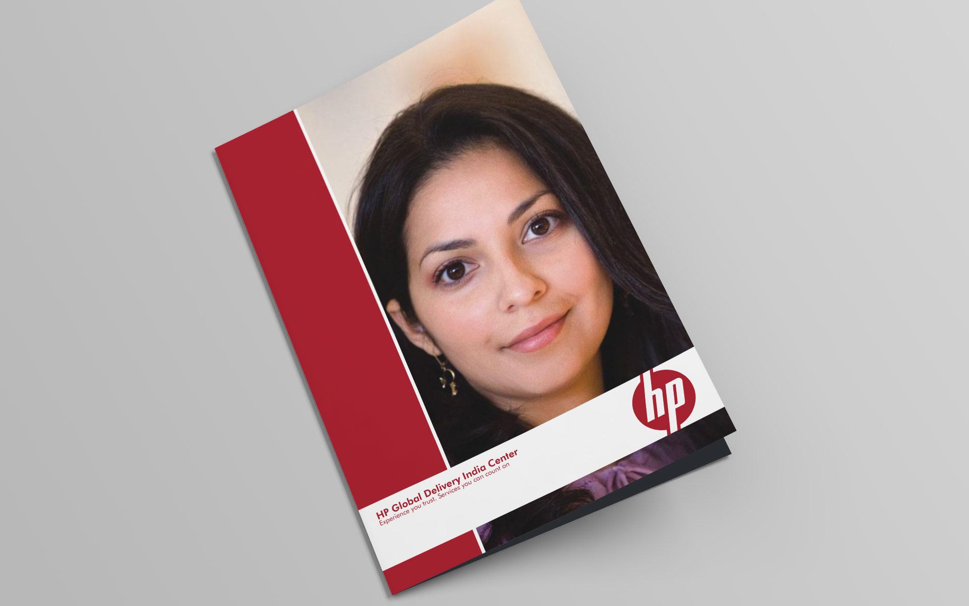 Brochure design for Hewlett Packard - hp