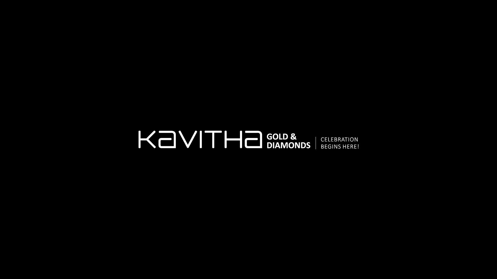 Kavtiha Gold & Diamonds Logo on black background