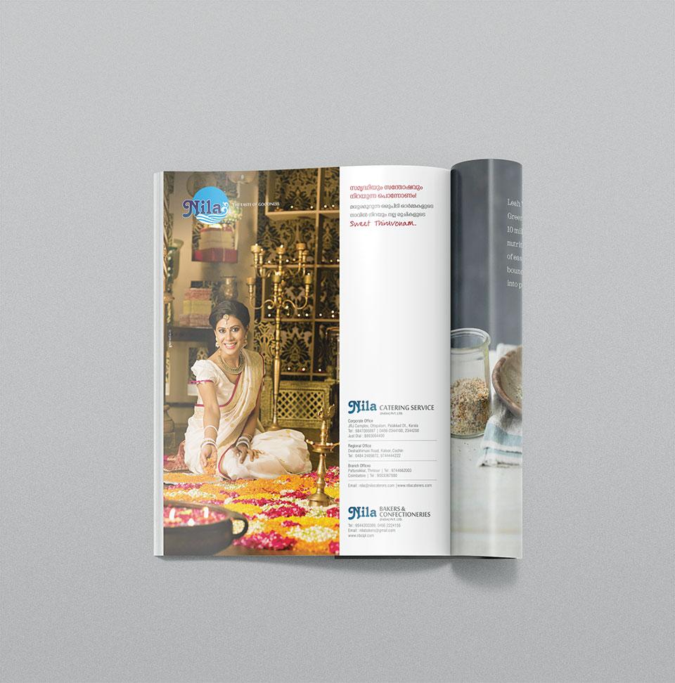 Nila Catering Services - Happy onam advertisement of Vanitha Magazine