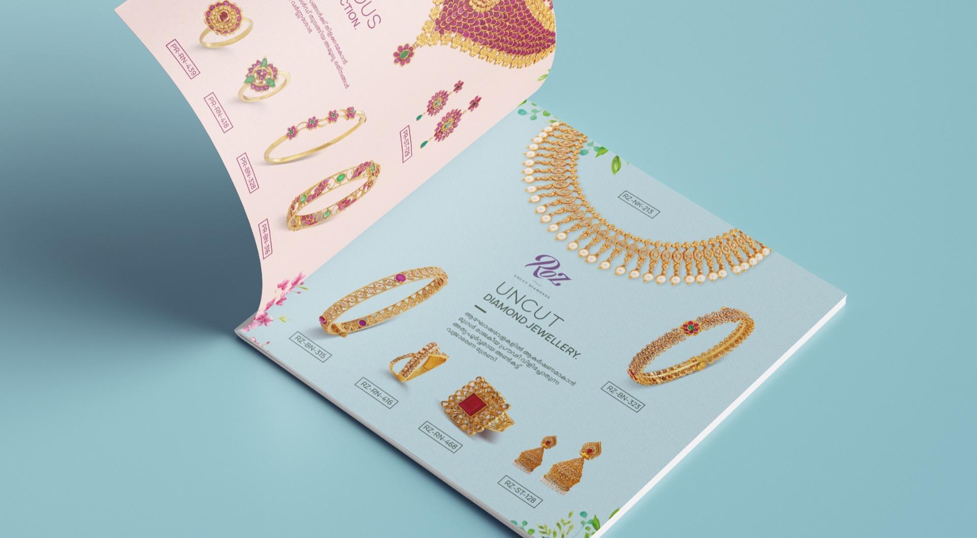 Brochure deisgn for Aksya Gold & Diamonds featuring Actress Vidya Balan