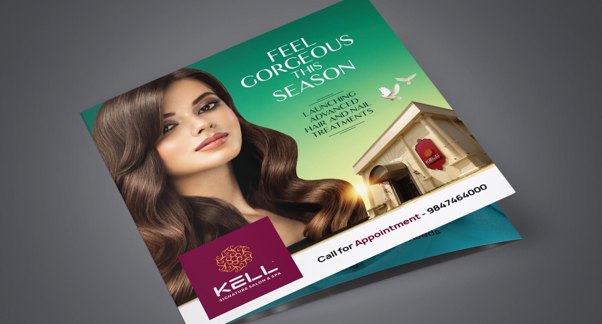 KELL Signature Salon & Spa Brochure Cover Design